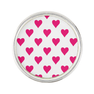 Cute Pink Heart Pattern Love Lapel Pin