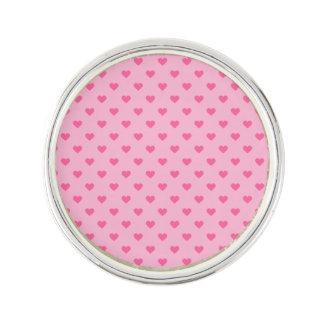 Cute Pink Heart Pattern Love Lapel Pin