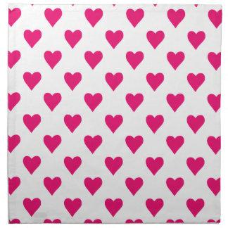 Cute Pink Heart Pattern Love Napkin