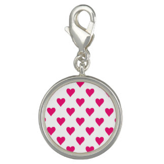 Cute Pink Heart Pattern Love Photo Charms