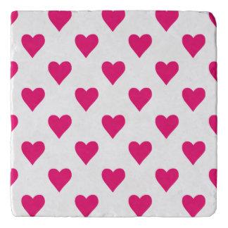 Cute Pink Heart Pattern Love Trivet