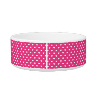 Cute Pink Hearts Pattern Bowl