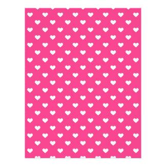 Cute Pink Hearts Pattern Custom Flyer