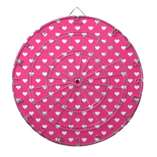 Cute Pink Hearts Pattern Dartboard