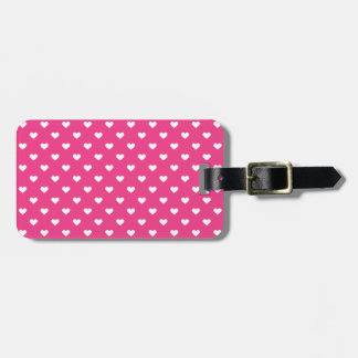 Cute Pink Hearts Pattern Luggage Tag