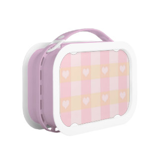 Cute Pink Hearts Pattern Lunchboxes