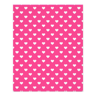 Cute Pink Hearts Pattern Personalized Flyer