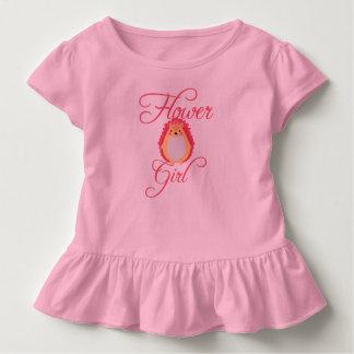 Cute Pink Hedgehog Flower Girl Toddler T-shirt