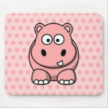 Cute Pink Hippo Mouse Pad