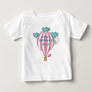Cute Pink Hot Air Balloon With Raccoon Baby T-Shirt