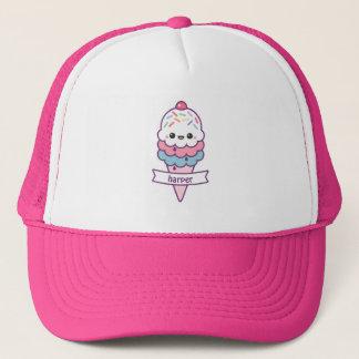 Cute Pink Ice Cream Cone Trucker Hat