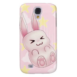 Cute pink Kawaii Bunny rabbit falling from stars