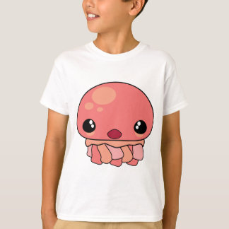 Cute Pink Kawaii Jellyfish Character T-Shirt