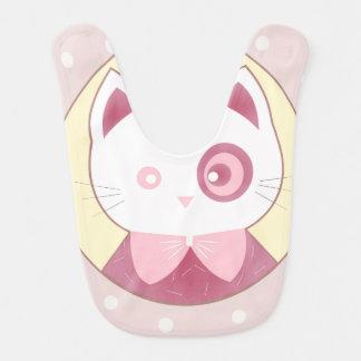 Cute Pink Kitten Happy Bib
