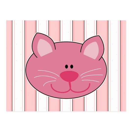 Cute Pink Kitty Cat Postcard