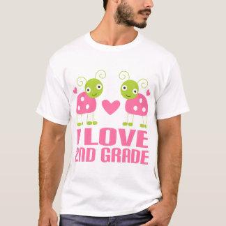 Cute Pink Ladybug I Love 2nd Grade Gift T-Shirt