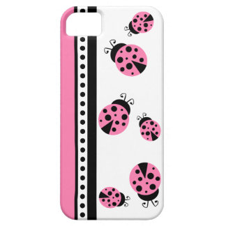 Cute Pink Ladybugs iPhone 5 Case