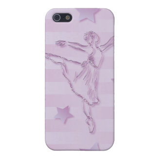 Cute pink lilac ballerina and stars iPhone 5 covers
