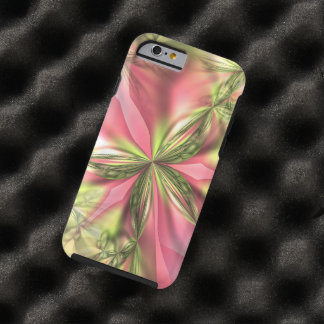 Cute Pink Lime Green Butterfly Fractals Pattern Tough iPhone 6 Case
