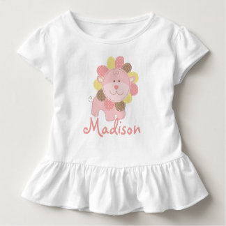 Cute Pink Lion Safari Jungle Personalized Birthday Toddler T-shirt