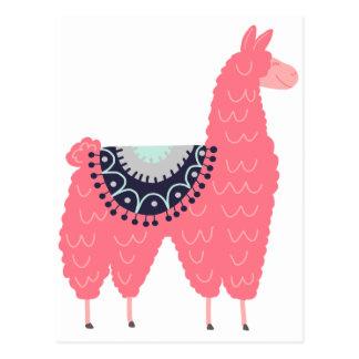 Cute Pink Llama Postcard