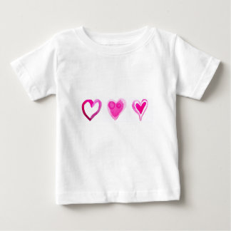 Cute Pink Lovely Hearts Pattern Baby T-Shirt