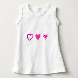 Cute Pink Lovely Hearts Pattern Dress