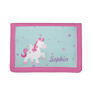 Cute Pink Magical Unicorn Wallet