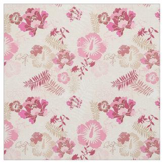 Cute pink modern flowers pattern fabric