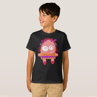 Cute Pink Muffin Wavy Smile Giggles Kids T-Shirt
