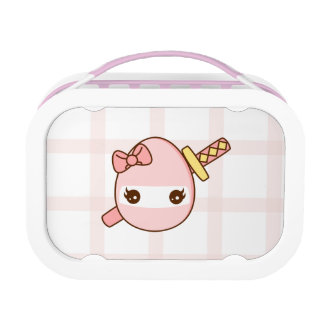 Cute pink Ninja Egg With a Katana Lunch Box