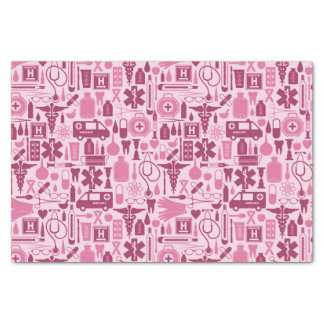 Cute Pink Nurse Doctor Pattern Tissue Paper