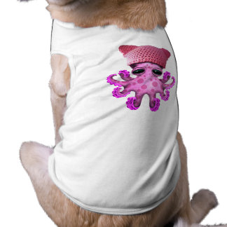 Cute Pink Octopus Wearing Pussy Hat Shirt