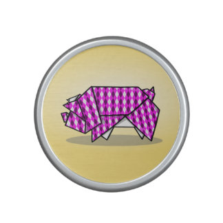Cute Pink Origami Pig Speaker