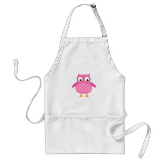 Cute Pink Owl Add Text to Personalize A02 Standard Apron