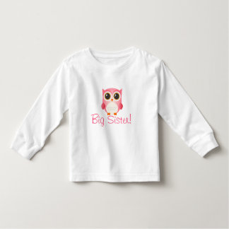 Cute Pink Owl, Big Siter, Toddle T-Shirt