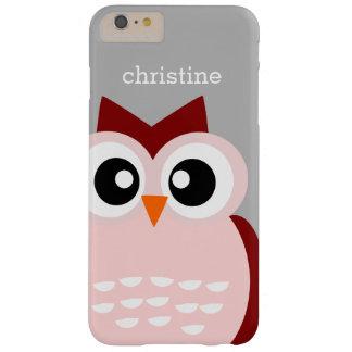 Cute Pink Owl Bird on Tough iPhone 6/6s Plus Case