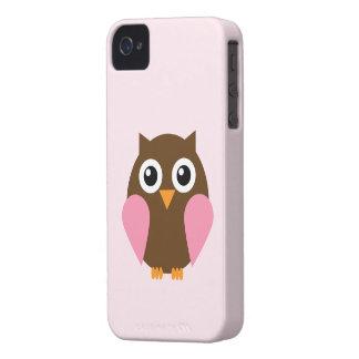 Cute Pink Owl iPhone 4 Case