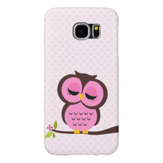 Cute Pink Owl Samsung Galaxy S6 Cases
