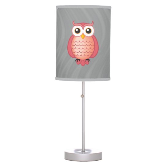 Cute Pink Owls Table Lamp