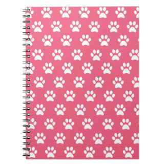 Cute Pink Paw Print Notebook