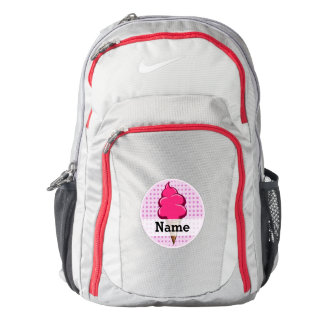 Cute pink personalized ice cream for girls backpack