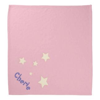 Cute pink personalized pet bandana