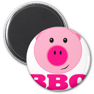 Cute Pink Pig BBQ Magnet