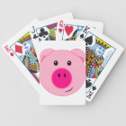 Cute Pink Pig Bicycle Playing Cards