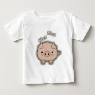 Cute Pink Pig Oink Baby T-Shirt