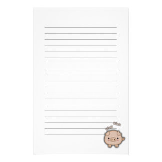 Cute Pink Pig Oink Stationery Design