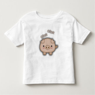 Cute Pink Pig Oink Toddler T-shirt