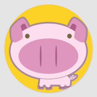 CUTE PINK PIGGY STICKER