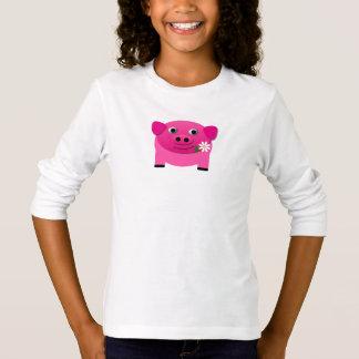 Cute Pink Piglet Animal Emoji Novelty T-Shirt